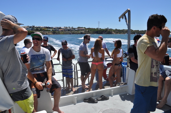 swan river bucks party boat hire Perth