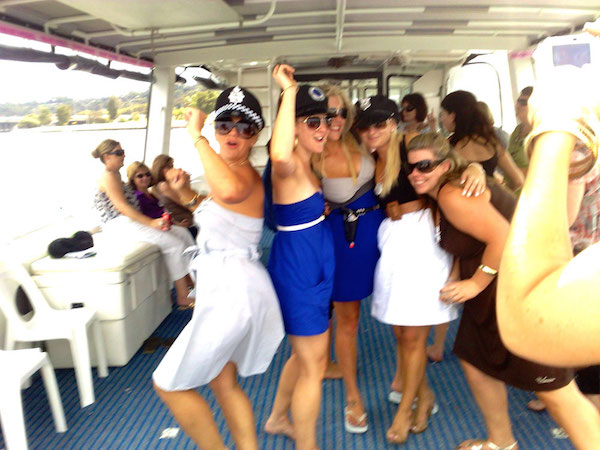 hens party boat hire