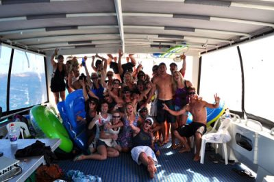 Carnac Island boat party