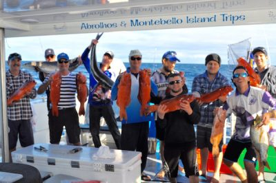 abrolhos islands fishing group photo